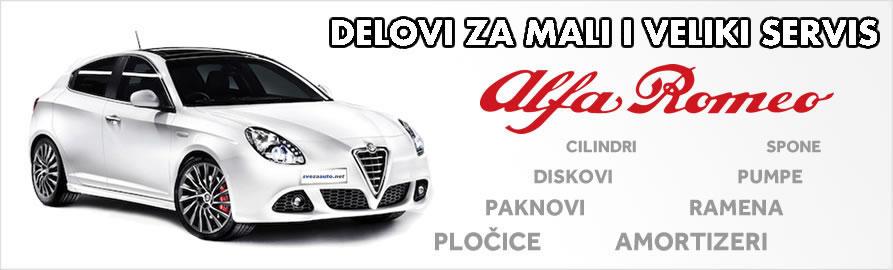 Delovi za mali i veliki servis Alfa Romeo