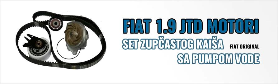 Set zupčastog kaiša sa pumpom vode - Fiat 1.9 JTD motori
