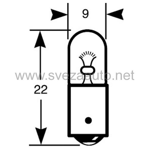 Sijalica 12V 4W R233 Ring