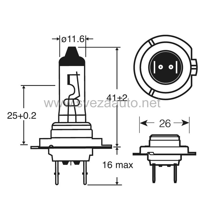 Sijalica H7 12V 55W R477 Ring