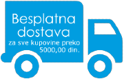 besplatna dostava za sve kupovine preko 5000 dinara