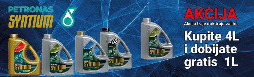 Petronas Syntium ulja - za svaku kupljenu kanticu od 4 litre poklanjamo 1 litar ulja