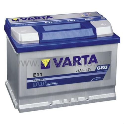 Varta 12V 74Ah D+ Akumulator E11 Blue Dynamic