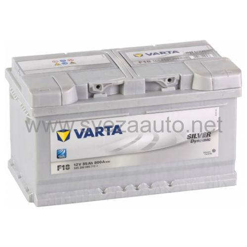Varta 12V 85Ah D+ Akumulator F18 Silver Dynamic