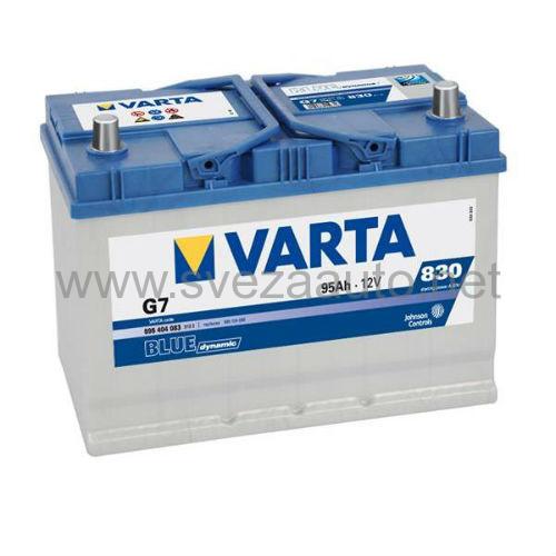 Varta 12V 95Ah D+ Akumulator G7 Blue Dynamic