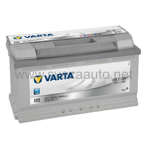 Varta 12V 100Ah D+ Akumulator H3 Silver Dynamic