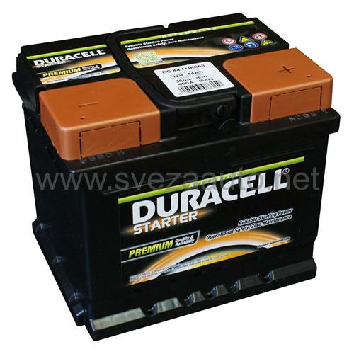 Duracell 12V 44Ah D+ Akumulator DS 44 Starter