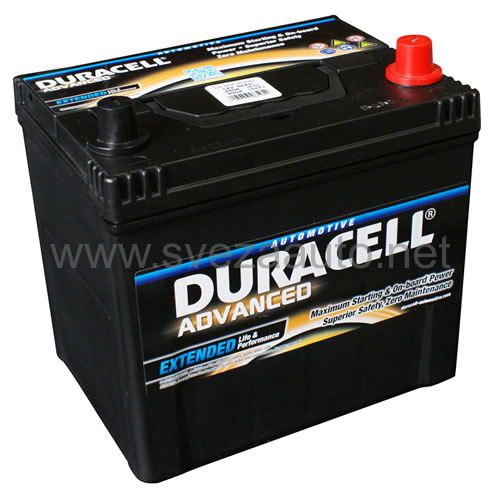 Duracell 12V 60Ah D+ Akumulator DA 60 Advanced