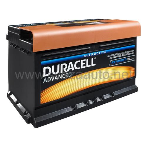 Duracell 12V 74Ah D+ Akumulator DA 74 Advanced