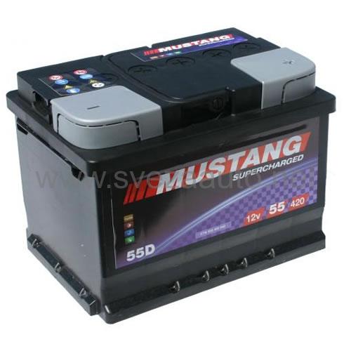 Mustang 12V 55Ah D+ Akumulator MS55-L2