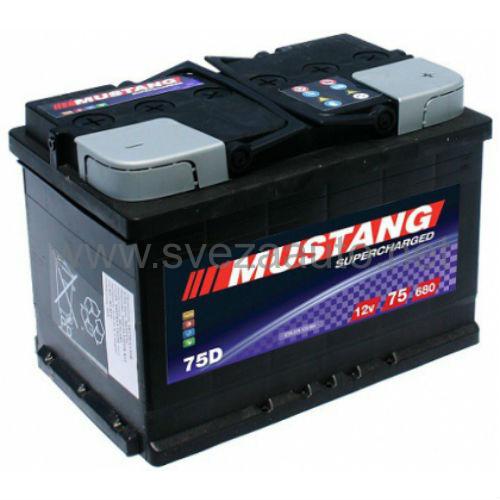 Mustang 12v75Ah D+ Akumulator MS75-L3