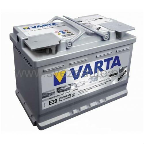 Varta AGM 12V 70Ah D+ E39 Akumulator sa start stop funkcijom